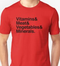 Vitamins& Meat& Vegetables& Minerals. Slim Fit T-Shirt