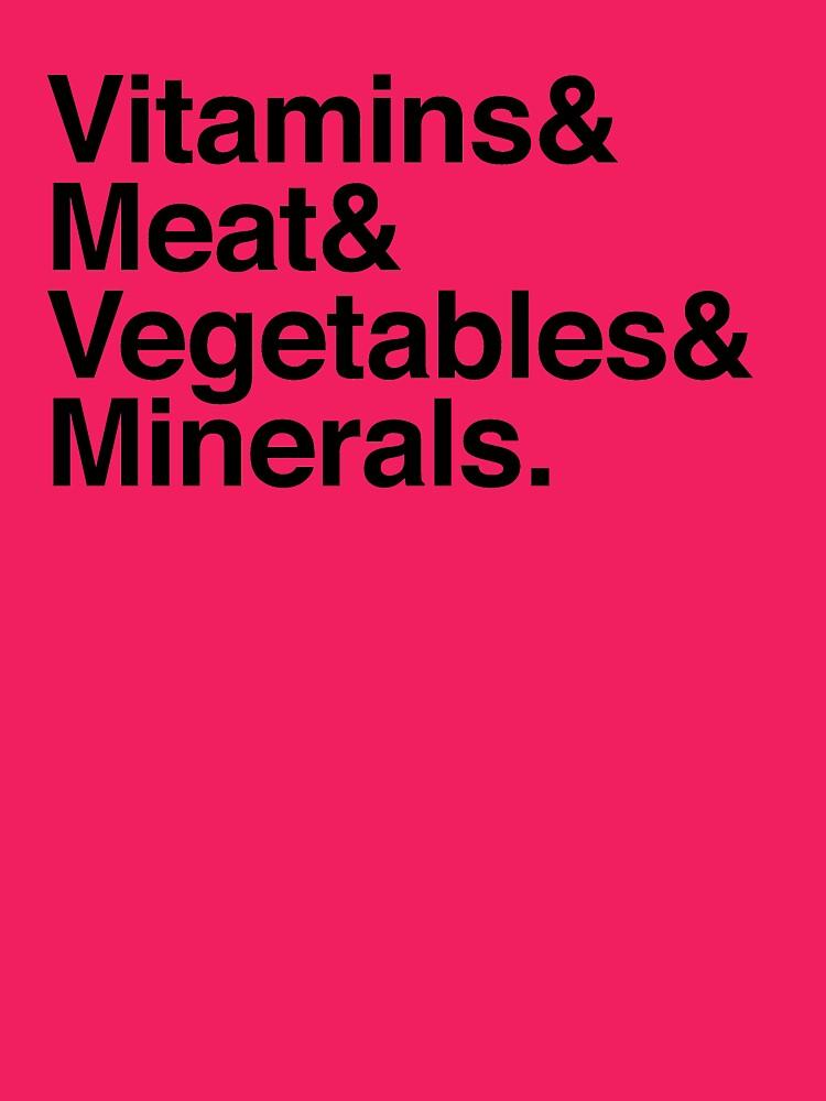 Vitamins& Meat& Vegetables& Minerals. by boulevardier