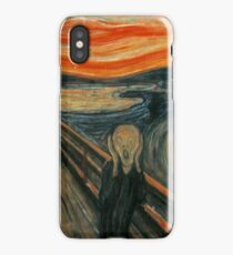 Classic Art - The Scream  - Edvard Munch iPhone Case