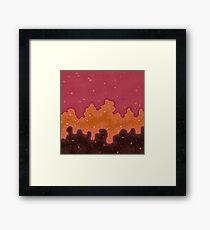 Herbst Starscape Gerahmtes Wandbild