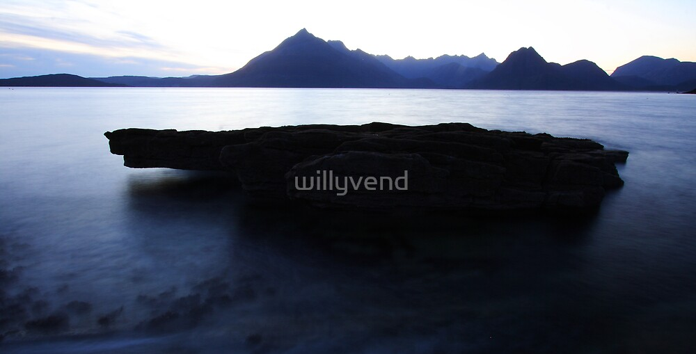 rock and sea by Willy Vendeville