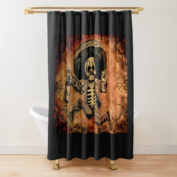 Posada Day of the Dead Outlaw Shower Curtain