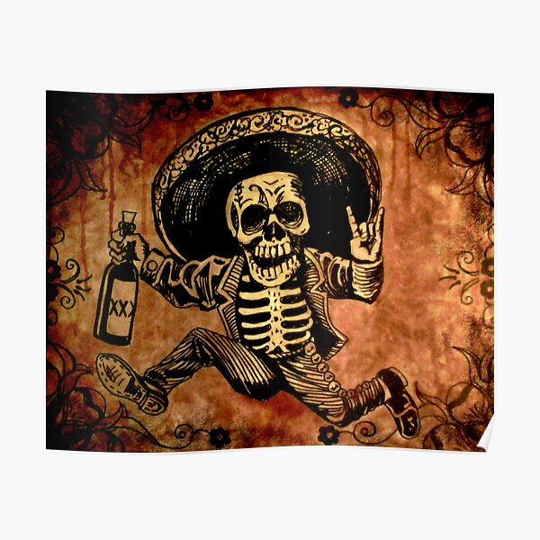 Posada Day of the Dead Outlaw Poster