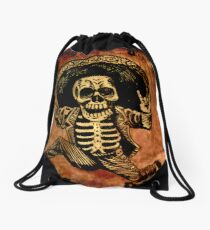 Posada Day of the Dead Outlaw Drawstring Bag