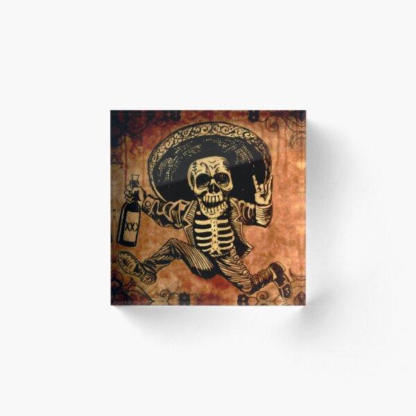 Le jour de la mort de Posada Outlaw Bloc acrylique