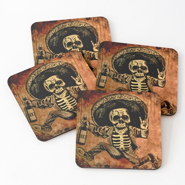 Posada Day of the Dead Outlaw Coasters (Set of 4)