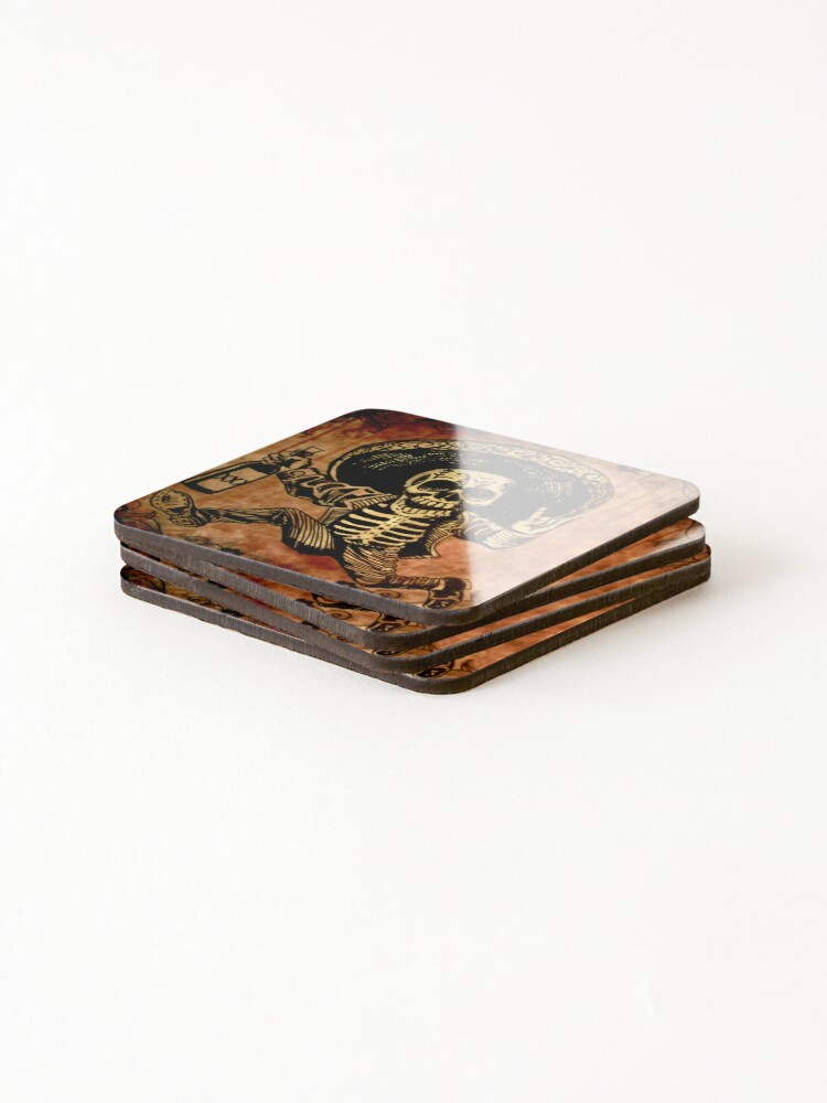 Alternate view of Posada Day of the Dead Outlaw Coasters (Set of 4)