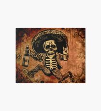 Posada Day of the Dead Outlaw Art Board Print