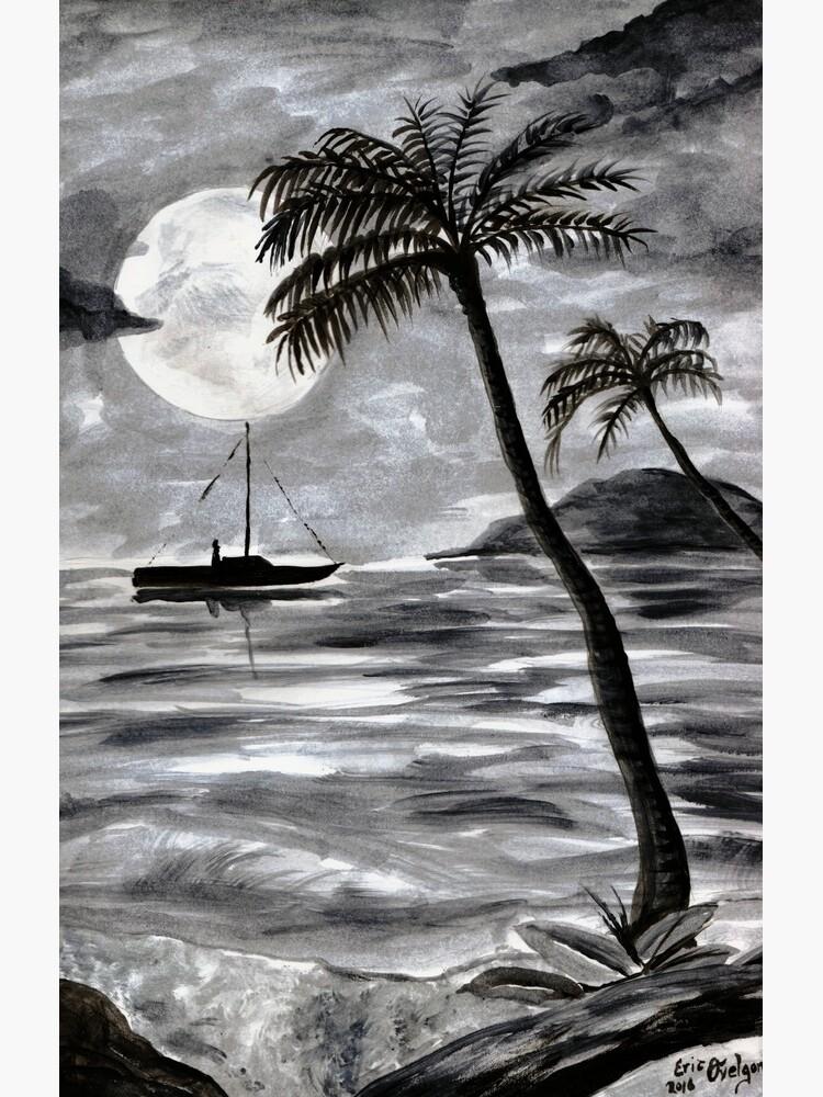 Moon Over Palm Trees by DarkRubyMoon