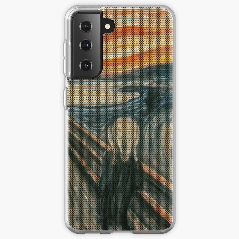 The Scream Lovingly Knitted by Granny E-Munch Case & Skin for Samsung Galaxy