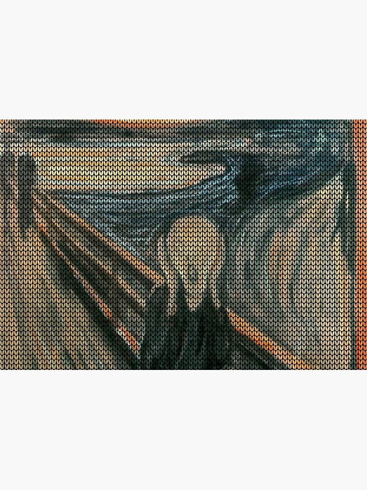 The Scream Lovingly Knitted by Granny E-Munch by podartist