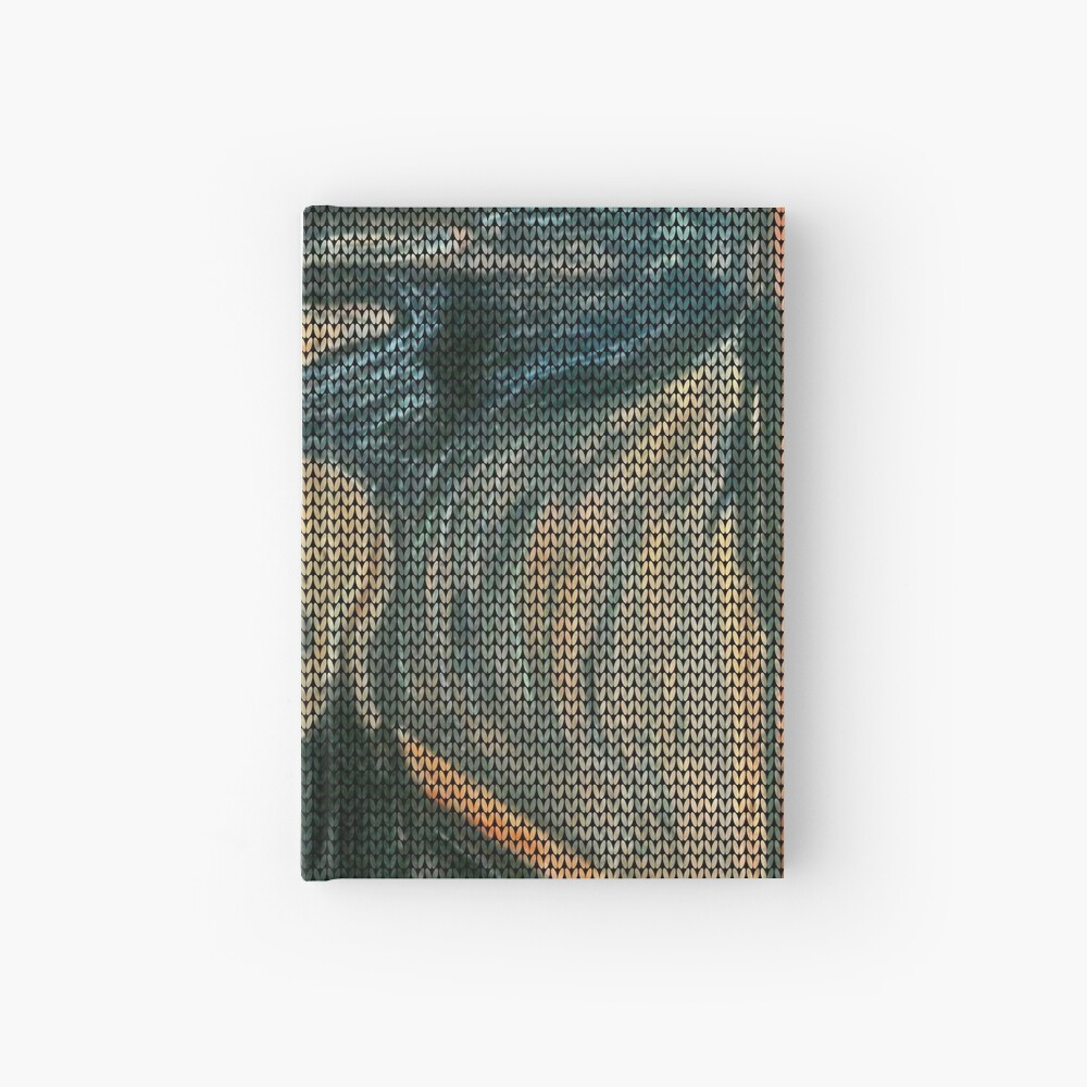 The Scream Lovingly Knitted by Granny E-Munch Hardcover Journal