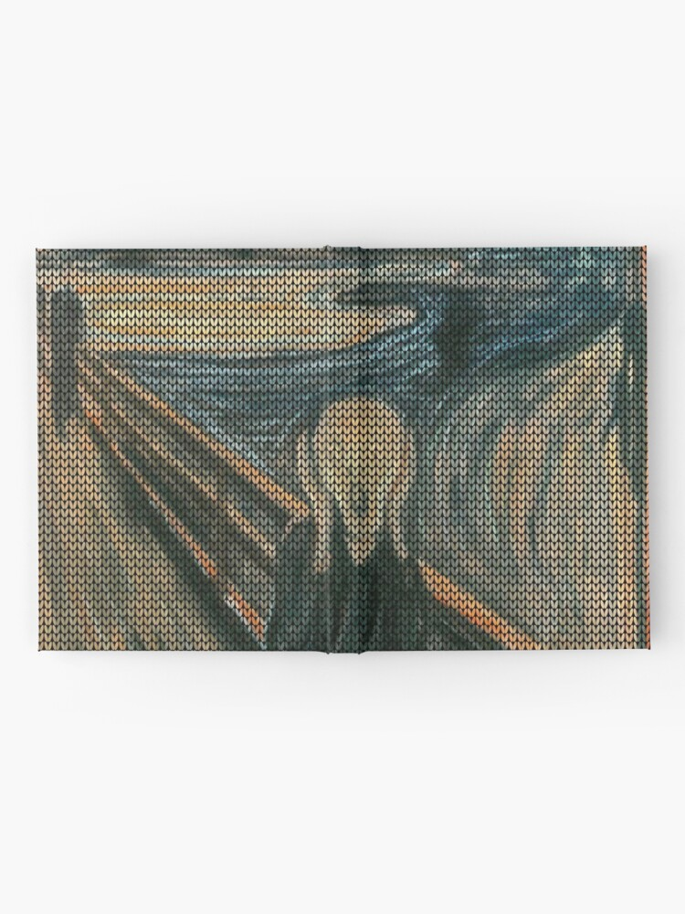 Alternate view of The Scream Lovingly Knitted by Granny E-Munch Hardcover Journal