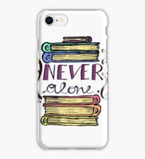 never alone - books iPhone Case/Skin