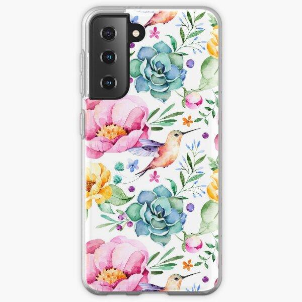 Humming Bird Pattern Samsung Galaxy Soft Case
