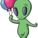 Balloon Alien by Kelly Angel
