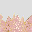 Pink Geometric & Gold by tanyadraws