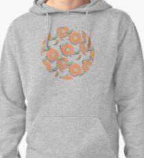 Peach Floral Pullover Hoodie