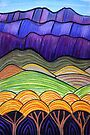 Perfect Pastels - Flinders Layers With Trees by Georgie Sharp