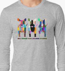 """Bull Terriers Make Life More Colourful"" Bull Terriers by BulliesRule T-Shirt"