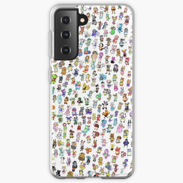 Animal Crossing New Leaf - Tous les villageois Coque souple Samsung Galaxy