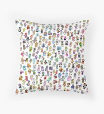 Animal Crossing New Leaf - All Villagers Throw Pillow