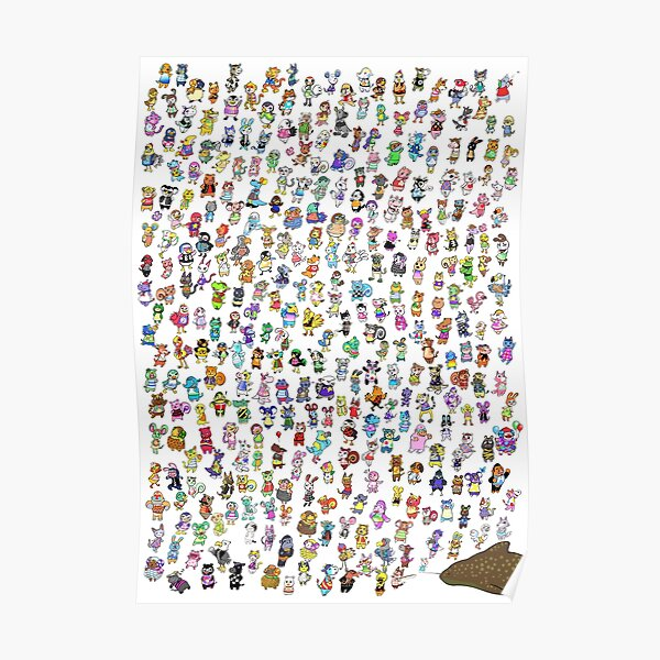 Animal Crossing New Leaf - All Villagers Poster