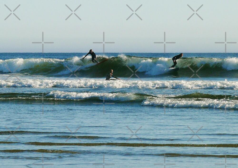 Surf's Up At Long Beach by Gail Bridger