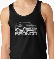 1992-1996 Ford Bronco, white print Tank Top