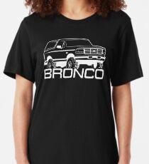 1992-1996 Ford Bronco, white print Slim Fit T-Shirt