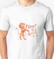 Haus Lion Brave im Herzen Aquarell Unisex T-Shirt