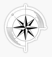 Geometric Compass Sticker