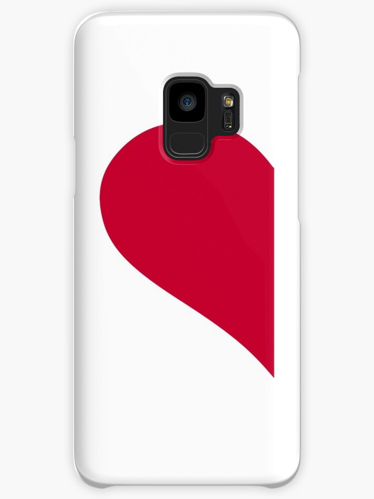 Red Left Half Heart Cases Skins For Samsung Galaxy By Designzz