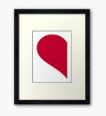 Red left half heart Framed Print