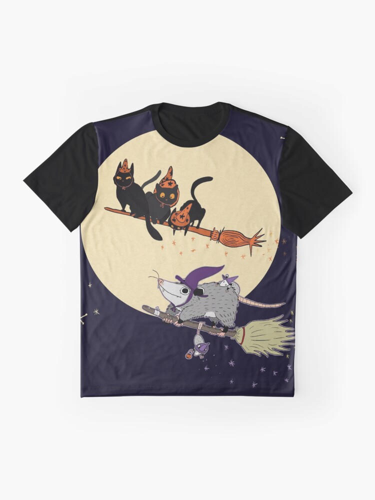 Alternate view of Witches' Familiar? Graphic T-Shirt