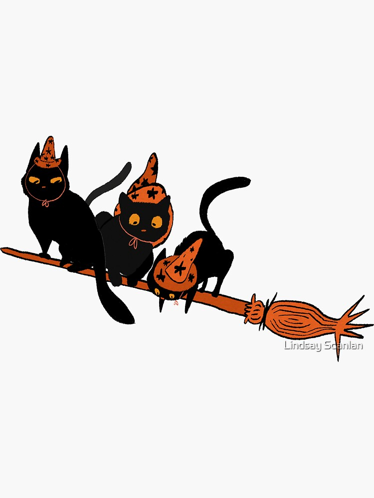 Witches' Cat Sticker by Cinnabees