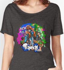 Overwatch X Splatoon (all rights to Nintendo for their characters, all rights to Blizzard entertainment for their character)  Women's Relaxed Fit T-Shirt