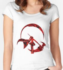 Ruby Rose Roses Silhouette Women's Fitted Scoop T-Shirt