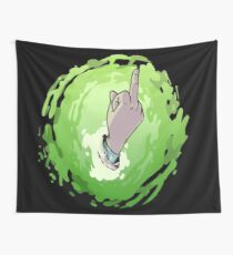 Interdimensional Middle Finger Wall Tapestry