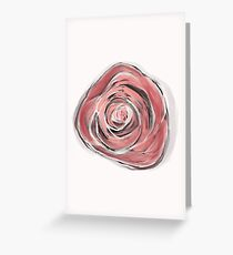 Rosie Posie on white Greeting Card