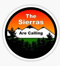 The Sierras Sticker