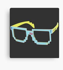 One Shot Pac Man glasses Canvas Print