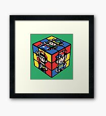 Super 16-Bit Cube Framed Print