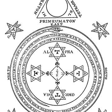 Solomon Circle Goetia Black n White by djhypnotixx