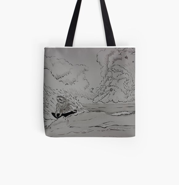 Wizard's Surfing Sloth! All Over Print Tote Bag