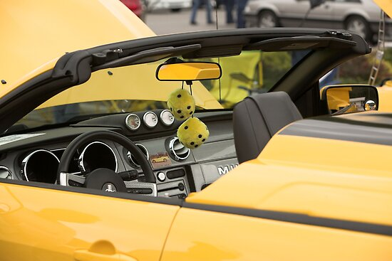 Yellow Mustang by Chipper