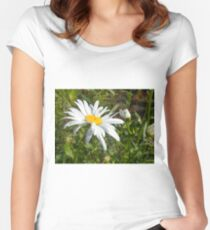 Big Chamomile 6 Women's Fitted Scoop T-Shirt
