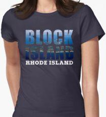 Block Island, Rhode Island Background Women's Fitted T-Shirt