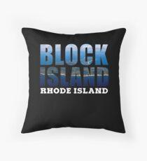 Block Island, Rhode Island Background Throw Pillow
