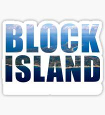 Block Island, Rhode Island Background Sticker